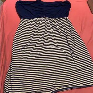 Blue stripped dress